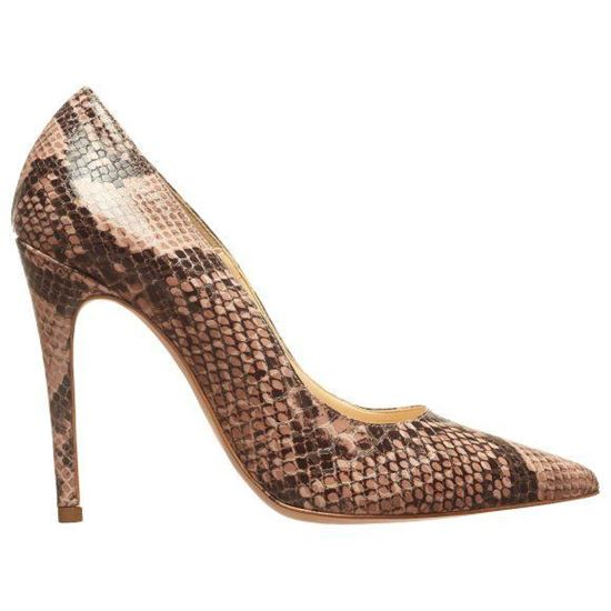 Picture of Pointed Heels With Anmal Print