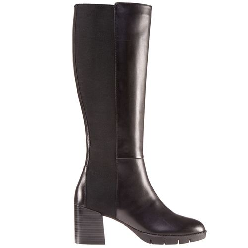 Picture of LEATHER BOOTS WITH WIDE HEEL