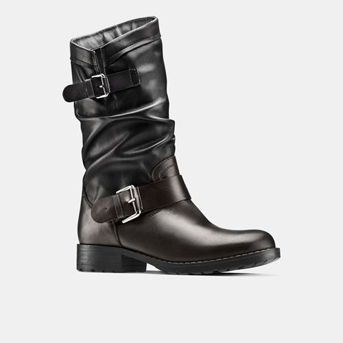 Picture of GENUINE LEATHER BIKER BOOTS