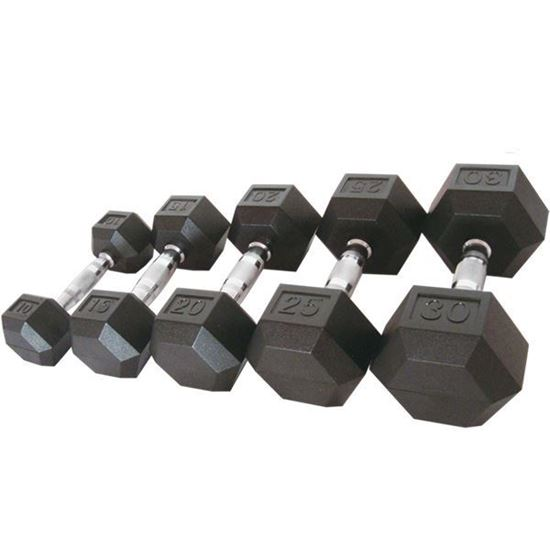 Picture of RUBBER HEX DUMBBELL 7KG