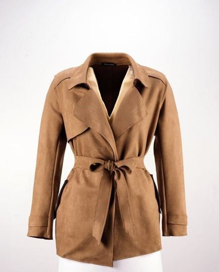 Picture of SUEDE-EFFECT TRENCH COAT