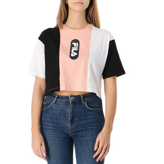 Picture of BASMA BLOCKED CROPPED TEE