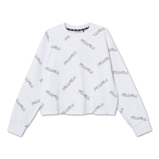 Picture of JAMIA AOP CROPPED CREW SWEAT