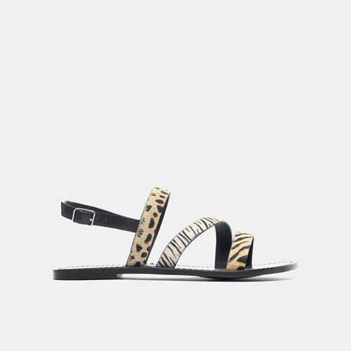 Picture of ANIMAL PRINT LEATHER SANDALS