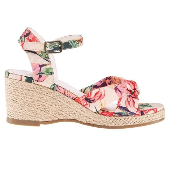 Picture of FLORAL WEDGE SANDALS