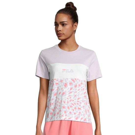 Picture of BRIELLE AOP BLOCKED TEE